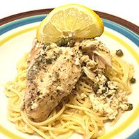 Slow Cooker Lemon Chicken Piccata | Live Like You Are Rich