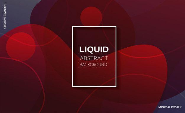 Download Liquid Red Color Background Futuristic Design Posters