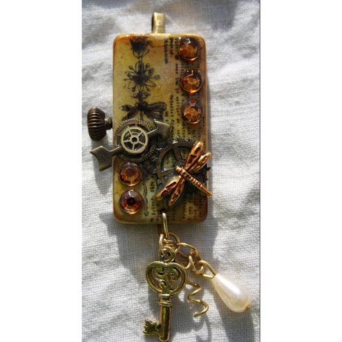 Image detail for -Altered Art Steampunk Domino Pendant - Folksy