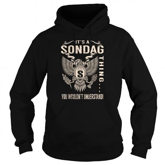 Awesome Tee Its a SONDAG Thing You Wouldnt Understand - Last Name, Surname T-Shirt (Eagle) T shirts