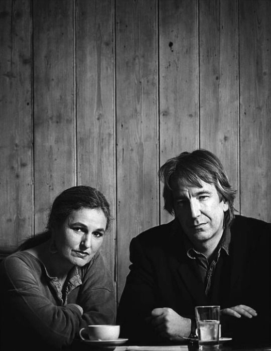 """The Winter Guest""  Alan Rickman and Sharman Macdonald photographed by David Eustace.    Sharman Macdonald is a Scottish playwright, screenwriter, and actress. ""The Winter Guest"" is a 1997 film directed by Alan Rickman in his debut as a director, which stars Phyllida Law and Emma Thompson.               The film is based on Sharman MacDonald's play."