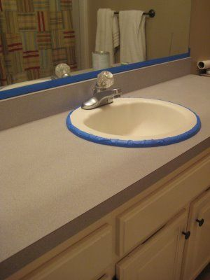 How To Paint Over Laminate Counter Tops   May Try This One For Sure!