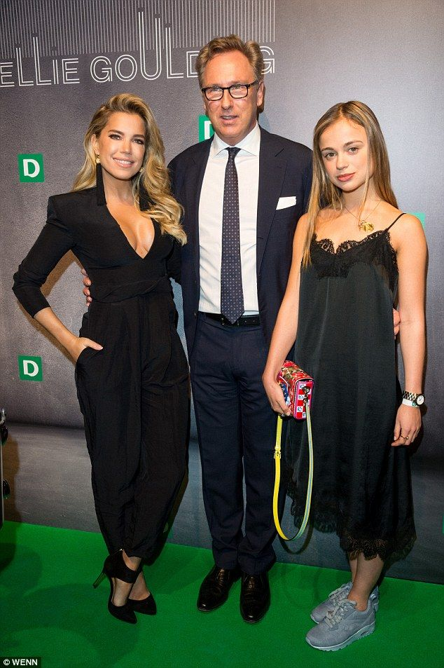 Stars: Lady Amelia, right, with Dutch TV personality Sylvie Meis and Deichmann CEO Heinrich Otto Deichmann