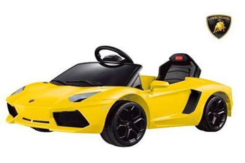 Lizenz Lamborghini Aventador LP 700-4 Kinder ElektroAuto Elektro Kinderauto-GELB