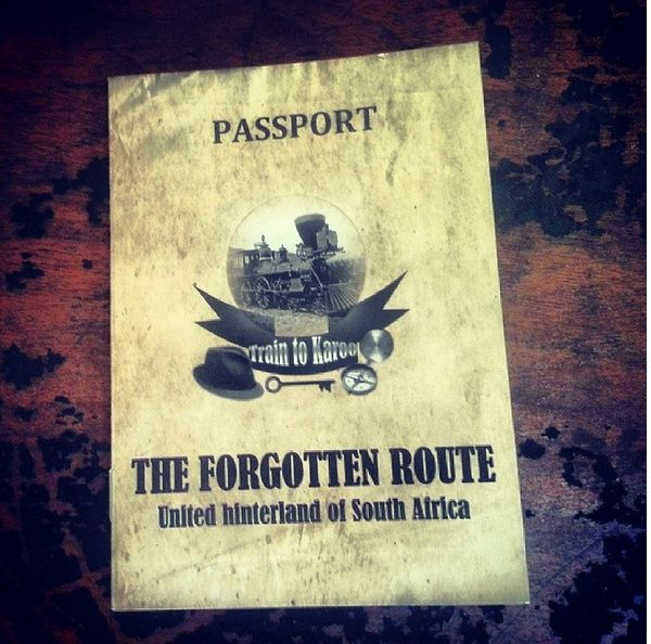 You get a special passport for the trip, which gets stamped as you go along. Read more about the Forgotten Route by Wine Flies: http://www.news24.com/Travel/Guides/Weekend-Escapes/Exploring-SAs-own-wild-wild-west-20140131
