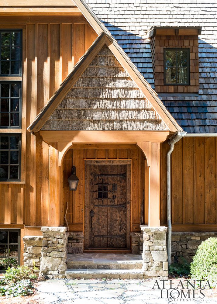 A Cedar Shake Roof Cypress Board And Batten Siding And