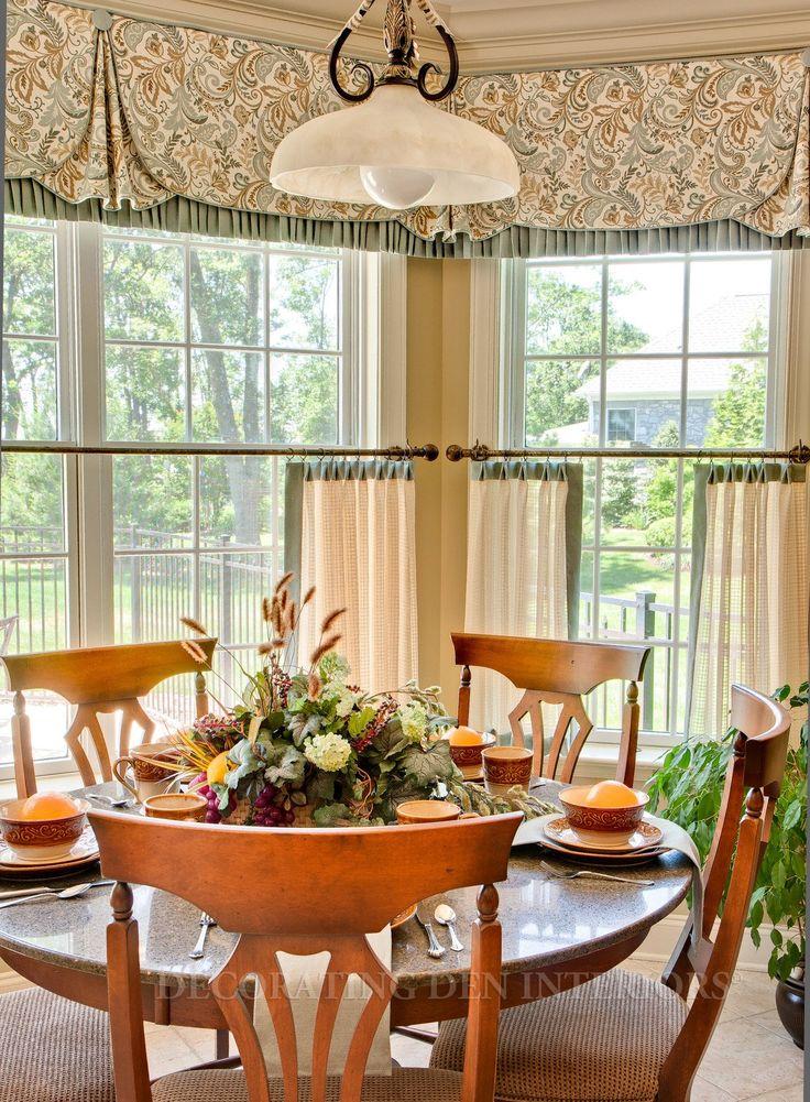 Room designed by barbara tabak cuarto pinterest valances huge windows and kitchen nook - Kitchen nook ideas ...