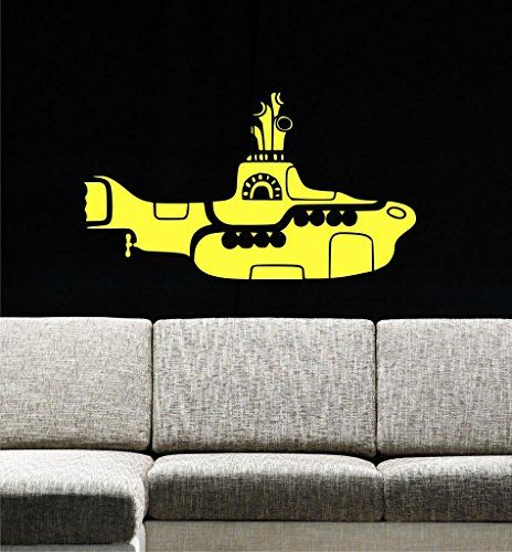 "Yellow Submarine Wall Decals, 30"" W by 17"" H, Ocean Wall ..."