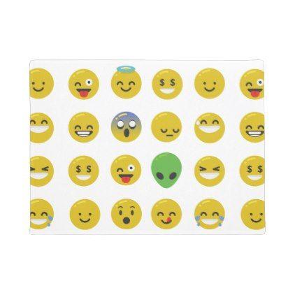 #customize - #Emoji happy face doormat door mat