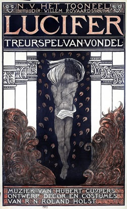 Richard Roland-Holst, Lucifer (poster 1910).