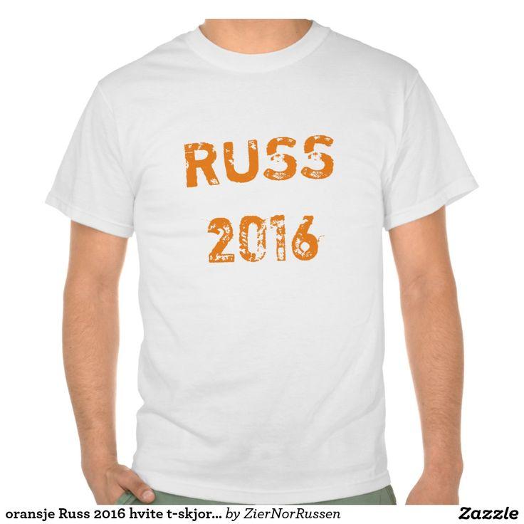 oransje Russ 2016 hvite t-skjorte Shirt