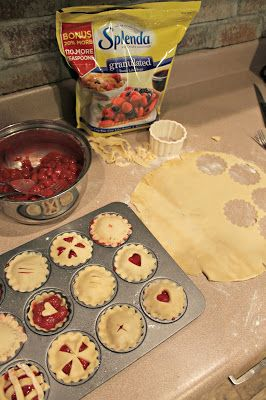 mini cherry pies @splenda