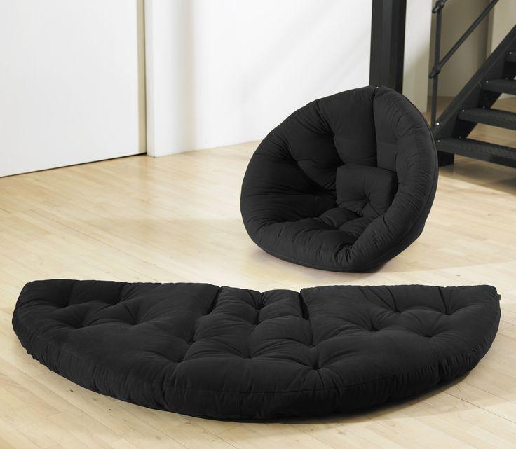 Amazon.com - Fresh Futon Nido Convertible Futon Chair/Bed, Lime Mattress - Childrens Bean Bag Chairs