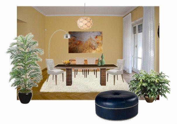 Elaborazione di sala da pranzo di appartamento a Torino