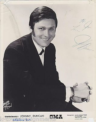 JOHNNY DUNCAN COLUMBIA RECORD COUNTRY MUSIC SINGERS AUTOGRAPH SIGNED PROMO PHOTO