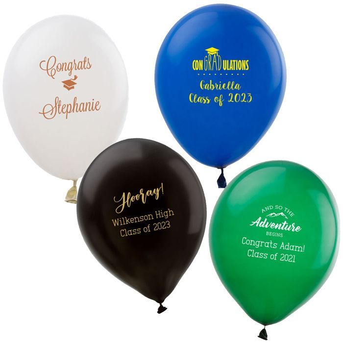 9 Inch Latex Graduation Balloons Personalized