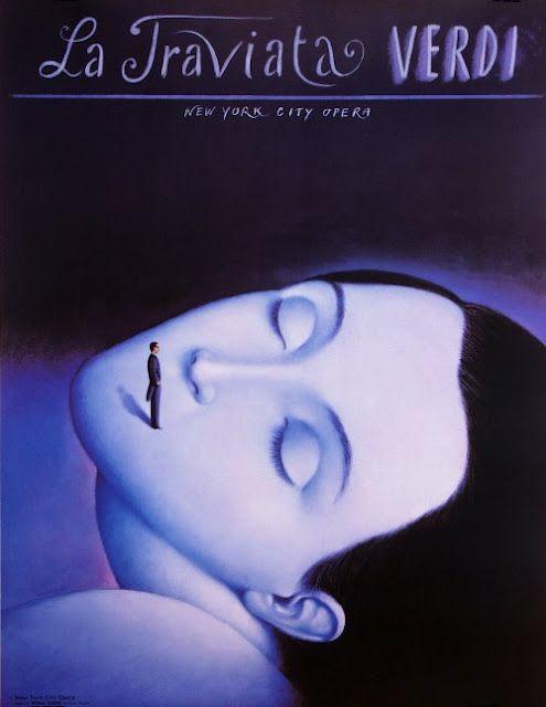 Rafal Olbinski, La Traviata, 1992