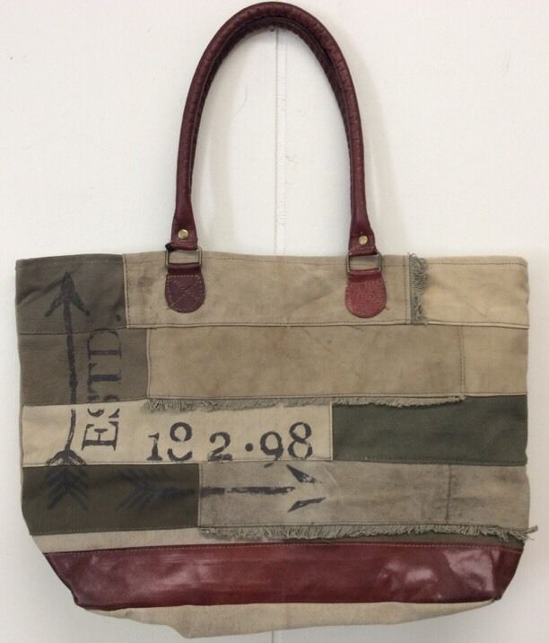 Mona B Arrow Canvas Bag Recycled Canvas Purse New Tote With Tags in Clothing, Shoes & Accessories, Women's Handbags & Bags, Handbags & Purses | eBay