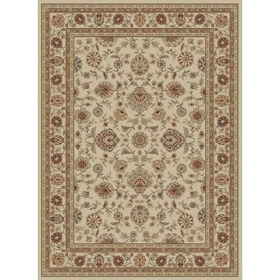 Elegance Ivory 7 Ft 6 In X 9 Ft 10 In Traditional Area