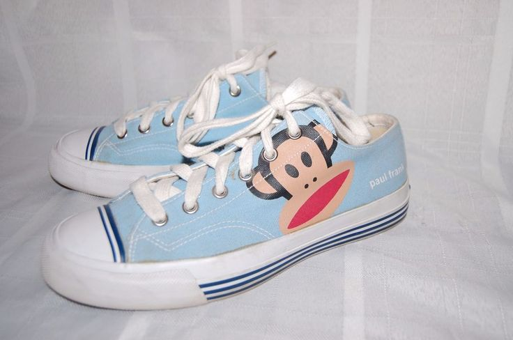 Pro Keds Sneakers Paul Frank Monkey Blue Athletic Shoes Sz 10 Womens Low Tops #ProKeds #BasketballShoes