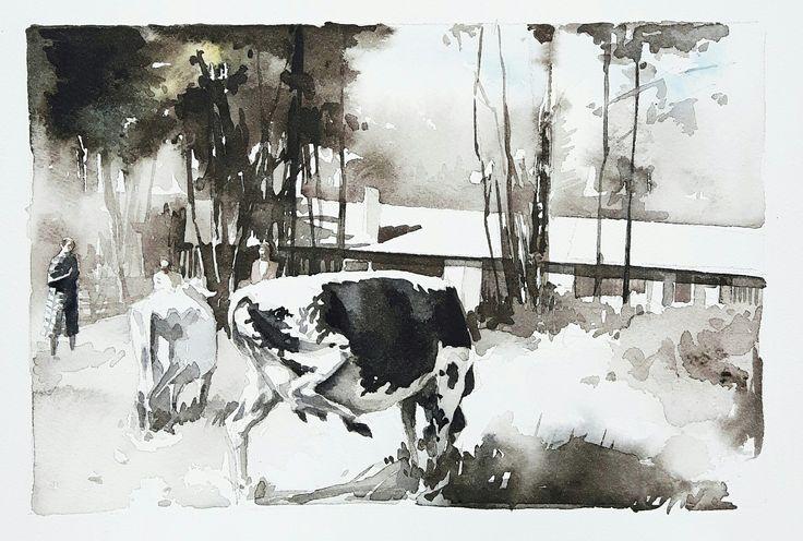 Akvarell, Elisabeth Biström 2017.   #watercolor #watercolour #art