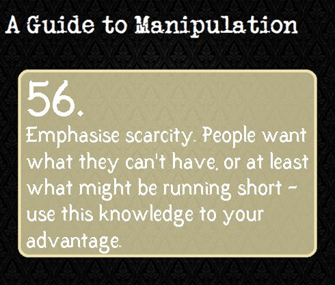 A Guide to Manipulation: #56