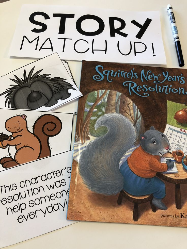Squirrel's New Year's Resolutions activities! New years