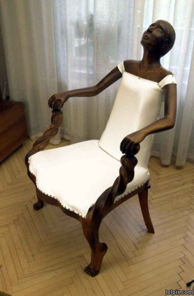 Weird chair!      For more great pins go to @KaseyBelleFox