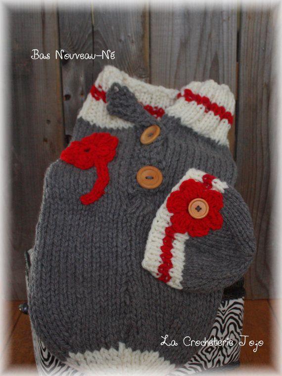 Cocon ''Bas de laine'' pour bébé par LaCrocheterieJojo sur Etsy
