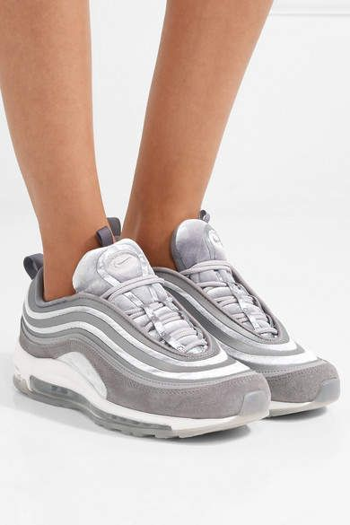 new style 5a633 7123c Nike - Air Max 97 Velvet, Nubuck And Rubber Sneakers - Gray