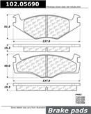 Brand:Centric Part Number:102.05690 Category:Brake Pad  Price :$10.92 2 Years Warranty