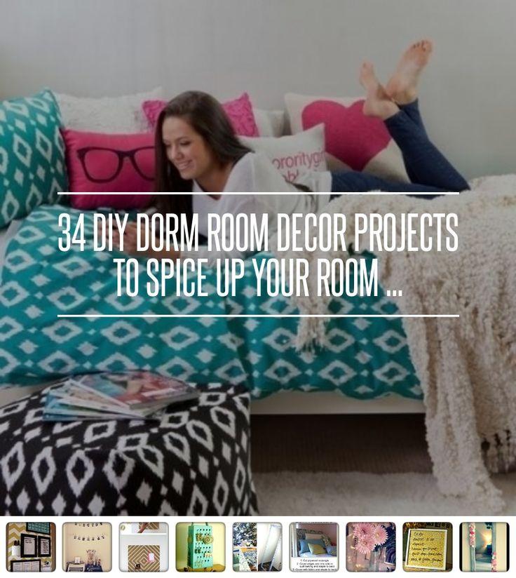 7 DIY Glitter Jar Flower Holder 34 DIY Dorm Room Decor Projects To Spice
