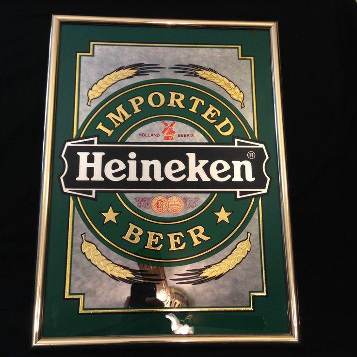 Heineken Beer Sign Mirror Brewery Bar Tavern Imported