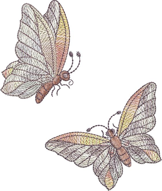 Butterfly Embroidery designs by Sue Box