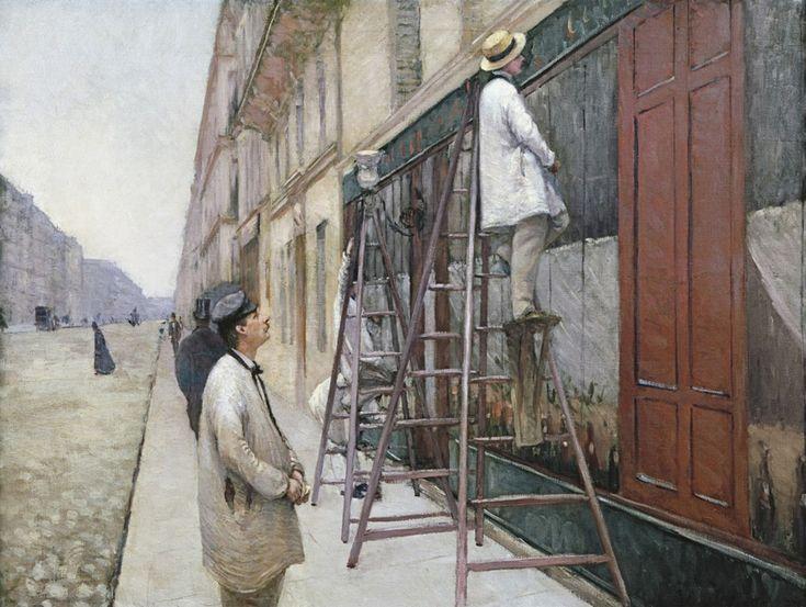 Живопись маслом. Gustave Caillebotte (1848-1894), Peinture d'un Bâtiment - 1877