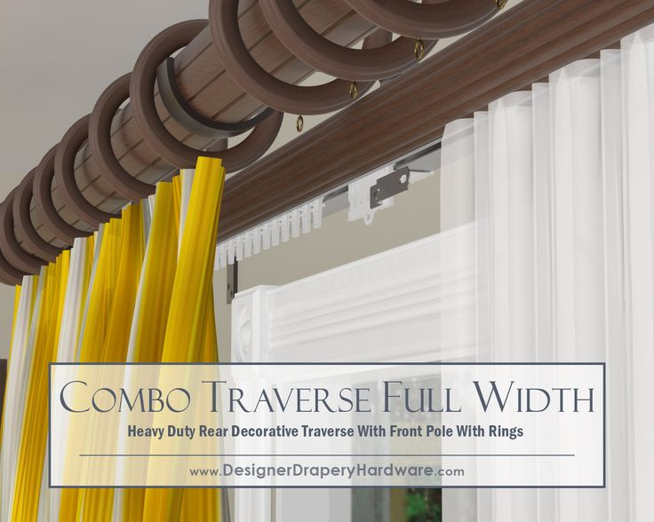 combo decorative traverse feature a super heavy duty rear rod perfect for