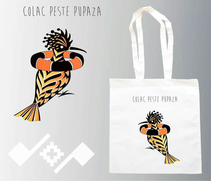 Colac peste pupaza!  Romanian inspiration design, on printed cotton bag;  https://m.facebook.com/beeboo814?_rdr#!/design.cu.origini.populare
