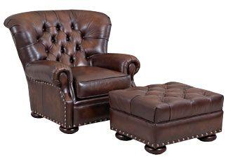 Thurman British Gentleman's Armchair in leather