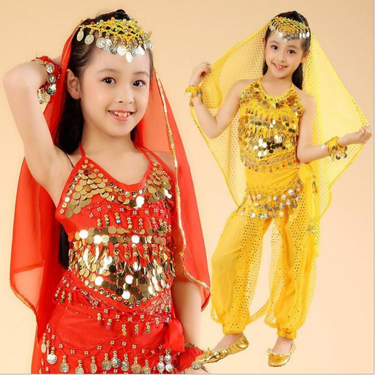 5PCS Belly dance costume for girls kids belly dance skirt bollywood dance costumes children indian dresses clothes for dancing(China (Mainland))