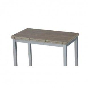 jídelní stůl, dub sonoma + šedá (kov), RUFELO