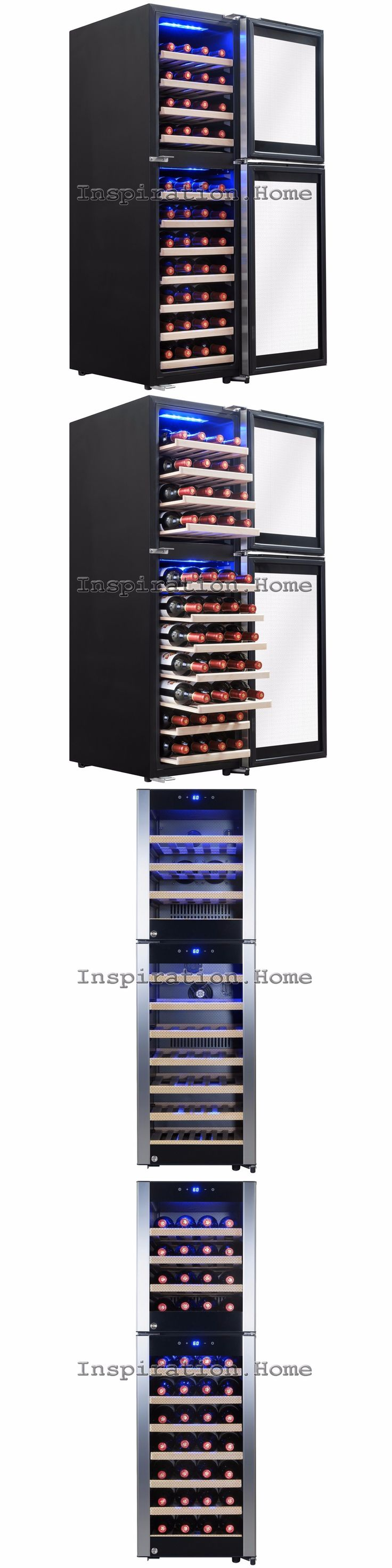 Wine Fridges and Cellars 177750: 53 Bottle Dual Zone Compressor Electric Wine Cooler Refrigerator Touch Control -> BUY IT NOW ONLY: $599.99 on eBay!
