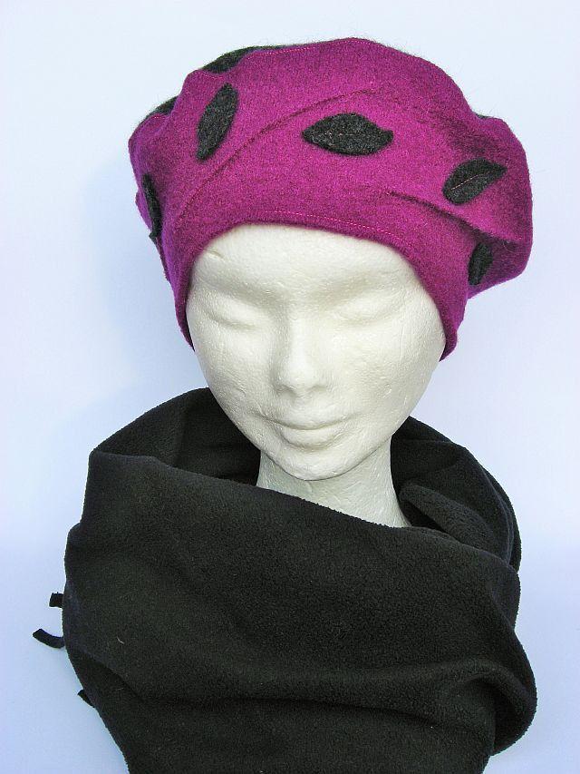 #cappello #basco invernale, due colori, hat, chapeau femme, beret laine , di…