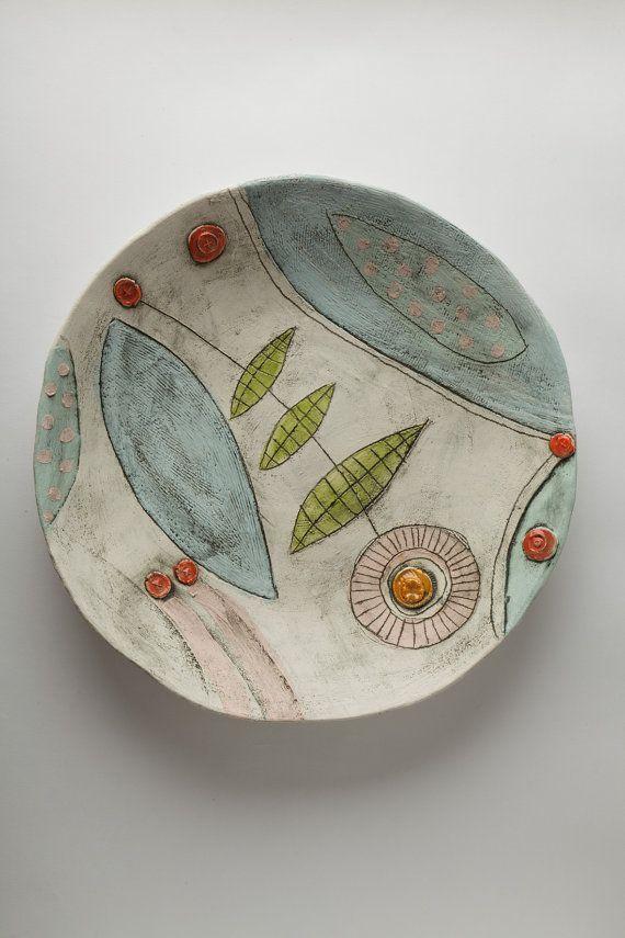 ABruxinhaCoisasGirasdaCarmita: Prato de cerâmica