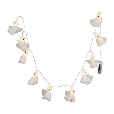 Licht guirlande spookje met tulle - 10 lampjes