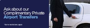 Earn points booking with us complimentary private car service...