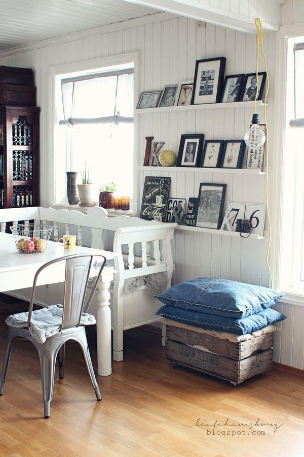 45 Best Hytte Inne Og Ute Images On Pinterest   Arte M Esszimmerbank