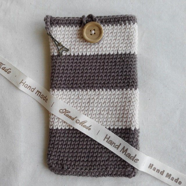 Hard Cover Crochet Phone Pouch - using thicker yarn