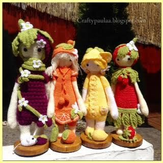 frui salad made by Paula D. / based on lalylala crochet patterns