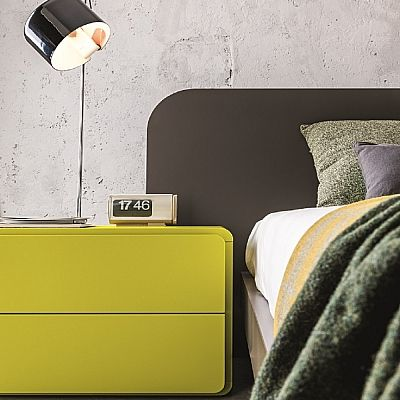 Light green, beautiful 'Acid' bedside table. Interesting colour, very bright. My Italian Living.