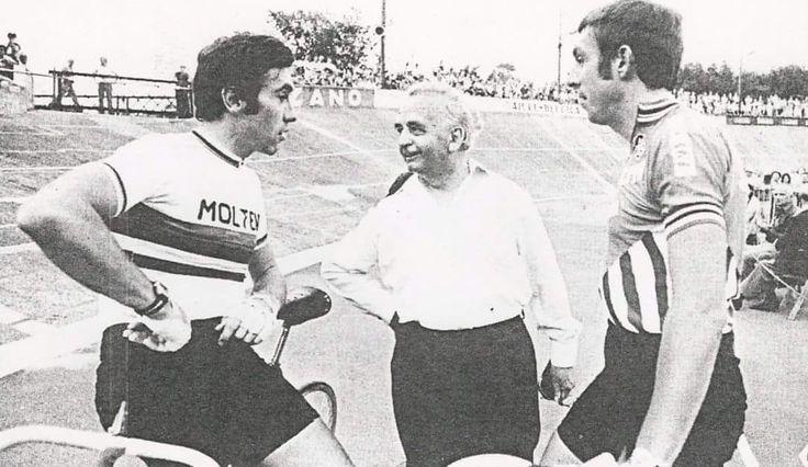 Eddy Merckx en Patrick Sercu in Oostende.